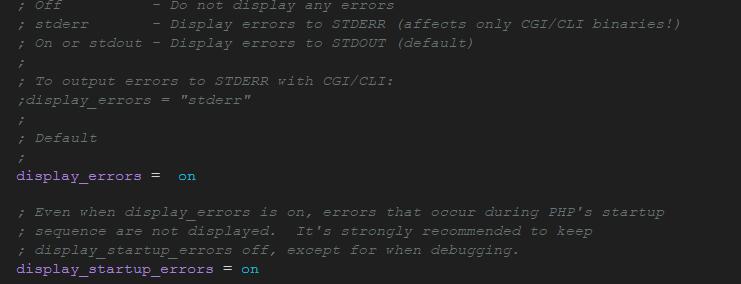 MAMP Show errors on