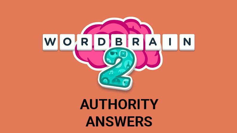 Wordbrain 2 Authority Answers