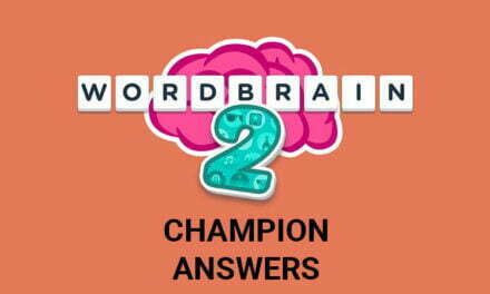 Wordbrain 2 Champion Answers