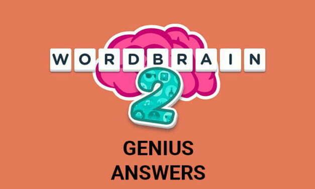 Wordbrain 2 Genius Answers