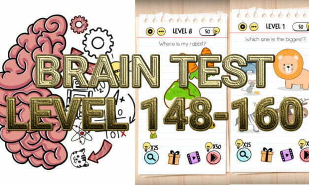 Brain Test: Tricky Puzzles Level 148-160 Answers