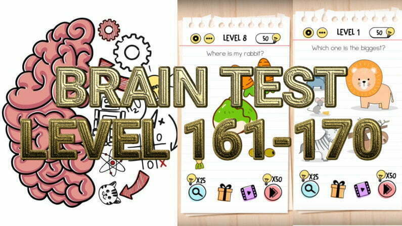 Brain Test: Tricky Puzzles Level 161-170 Answers