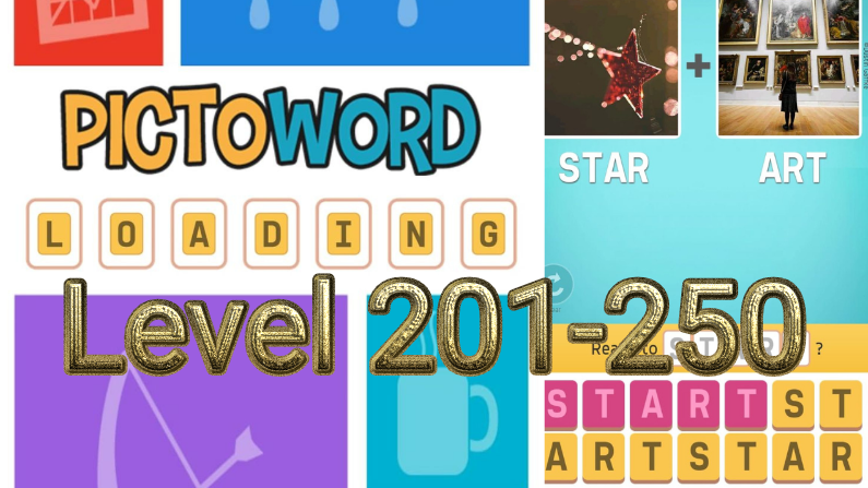 Pictoword: Fun Word Games Level 201-250 Answers