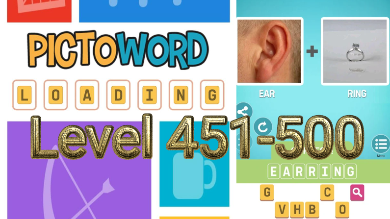 Pictoword: Fun Word Games Level 451-500
