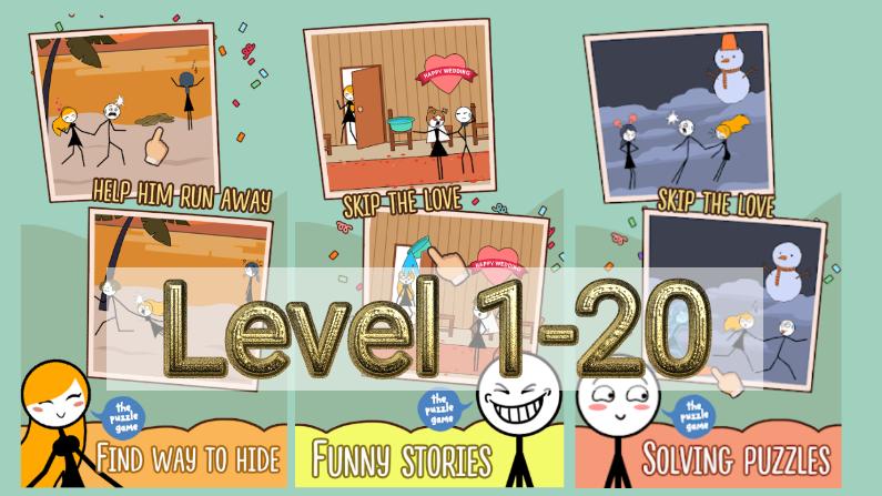Skip Love Level 1-20 Answers