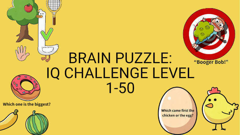 Brain Puzzle: IQ Challenge Level 1-50