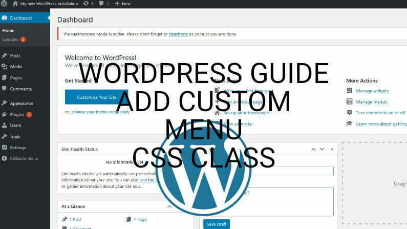 How To Add Custom CSS Class To Menu Items In WordPress