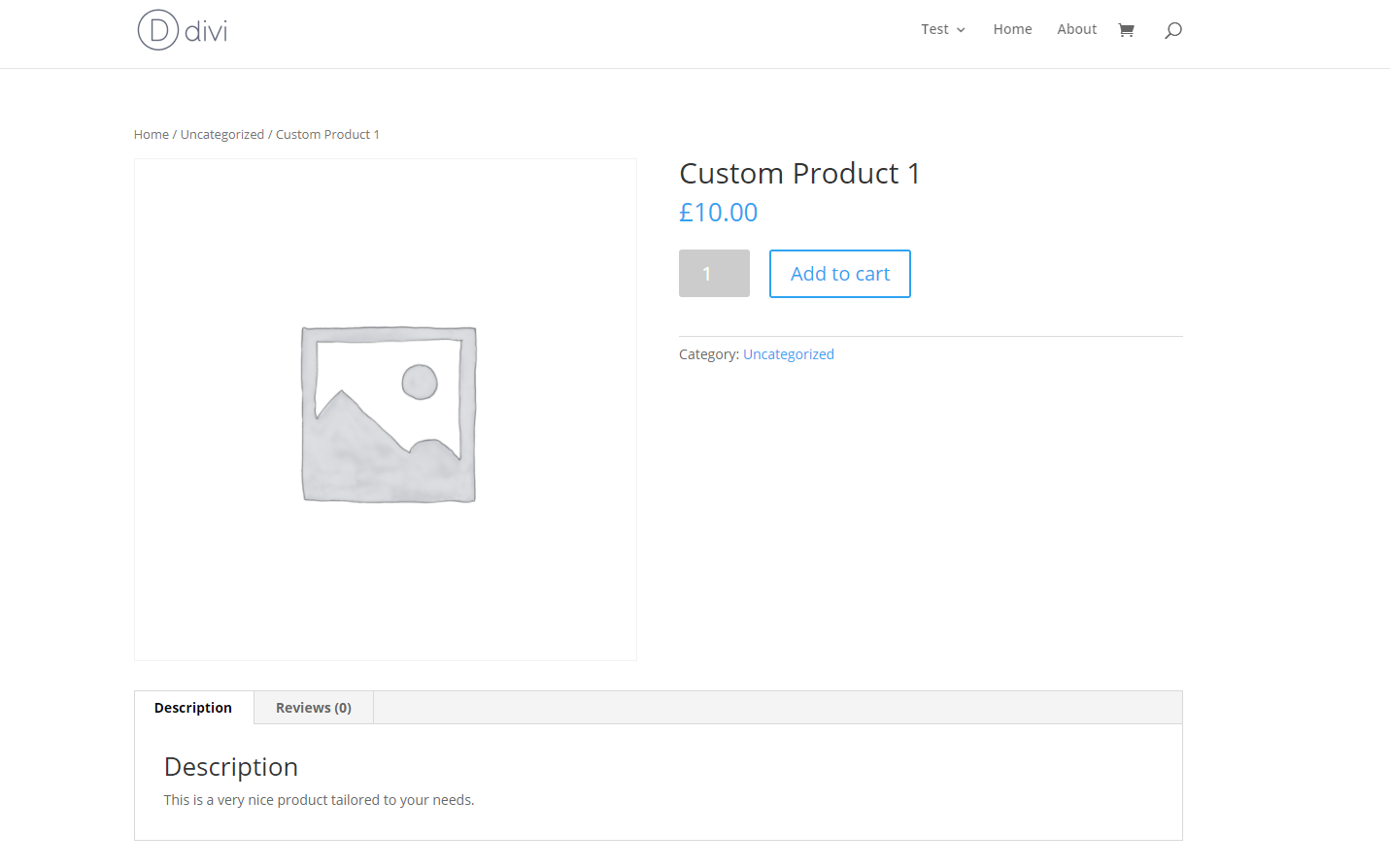 DIVI Theme WooCommerce Product Page No Custom Styling