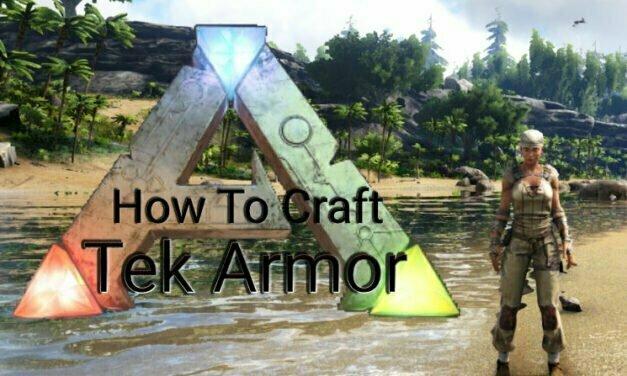 How To Craft Tek Armor In Ark Survival Evolved